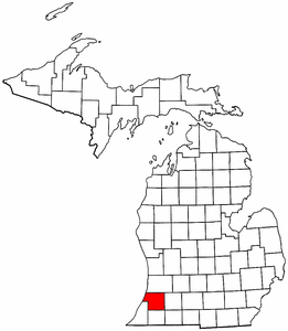 Image:Map of Michigan highlighting Van Buren County.png