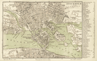 1888 German map of Stockholm