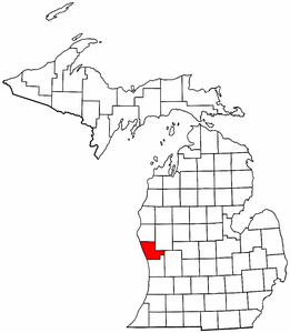 Image:Map of Michigan highlighting Muskegon County.png