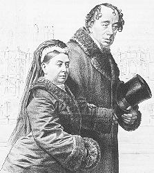 Benjamin Disraeli and Queen Victoria