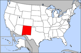 Map of the U.S. with New Mexico highlighted