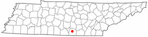 Location of Winchester, Tennessee