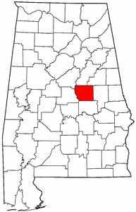 Image:Map of Alabama highlighting Coosa County.png