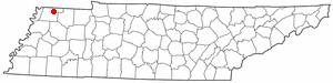 Location of Union City, Tennessee