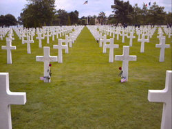 An American military cemetery in Normandy