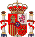 Fleurs-de-lys for the ruling Bourbons on the center of the current coat of the Kingdom of Spain