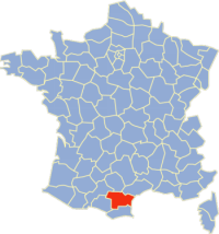 Location of  Aude in France
