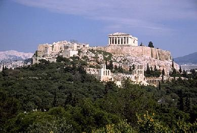 The  in central Athens, one of the most important landmarks in world history. The Parthenon, the main monument on the site, was built in favour of goddess Athena, the patron of the city