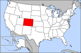 Map of the U.S. with Colorado highlighted