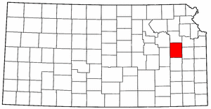 Image:Map of Kansas highlighting Osage County.png