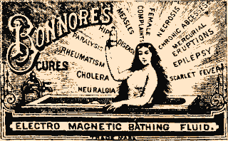 Bonnore's  Bathing Fluid was good for many unrelated ailments.