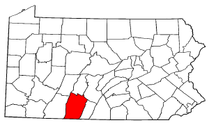 Image:Map of Pennsylvania highlighting Bedford County.png