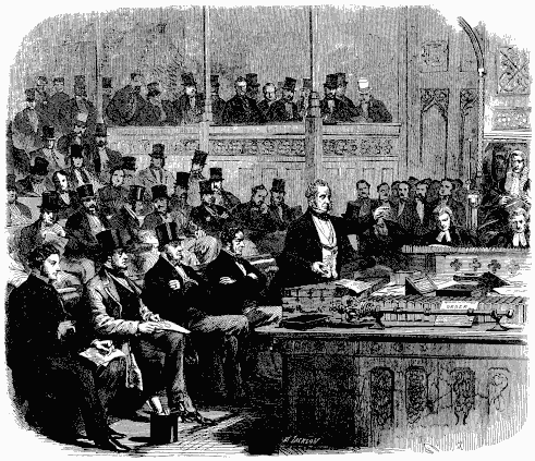 Lord Palmerston addressing the House of Commons