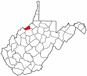 Image:Map of West Virginia highlighting Pleasants County.png