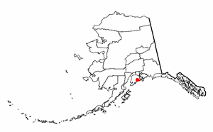 Location of Seward, Alaska