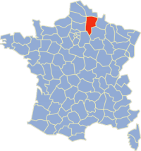Location of Aisne in France