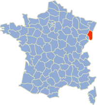 Location of du Haut-Rhin in France