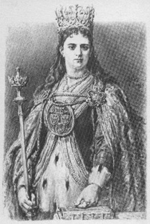Jadwiga, from Gallery of Polish Kings by  (1838-1893)