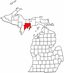 Image:Map of Michigan highlighting Delta County.png