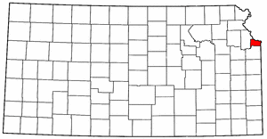Image:Map of Kansas highlighting Wyandotte County.png