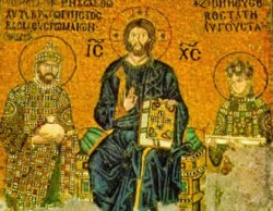 Mosaic of Constantine IX and