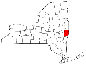 Image:Map of New York highlighting Rensselaer County.png