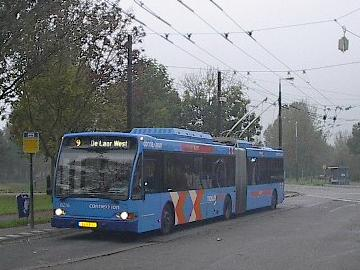 An  trolleybus in