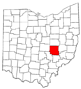 Image:Map of Ohio highlighting Muskingum County.png