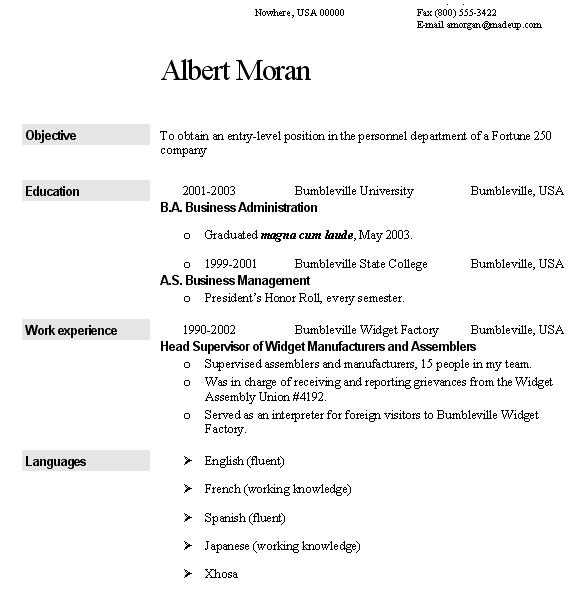 English to German Translation help (for a CV)?