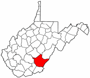 Image:Map of West Virginia highlighting Greenbrier County.png