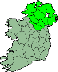 Map of Ulster