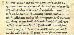 Example from 10th century manuscript