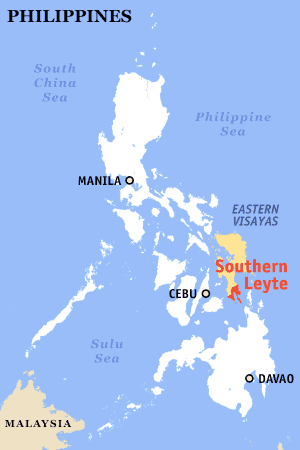 map california southern leyte province
