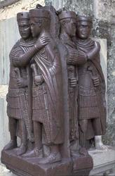The Tetrarchs, a porphyry sculpture sacked from a Byzantine palace in 1204, Treasury of St. Marks,