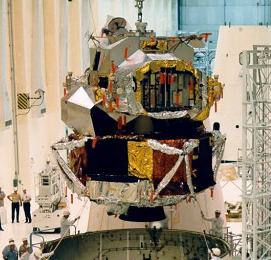Lunar Module 1 during ground testing