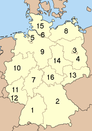 The 16 Bundesl�nder (States) of Germany