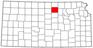 Image:Map of Kansas highlighting Cloud County.png