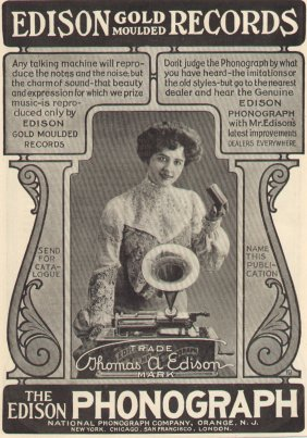 advertisement for Edison Records