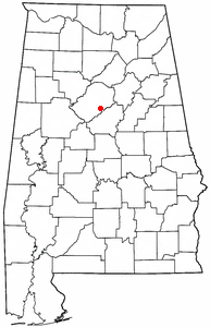 Location of Hoover, Alabama