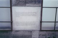 A plaque commemorating the exact scene of the Sarajevo Assassination.