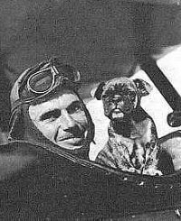 Field Kindley and mascot Fokker