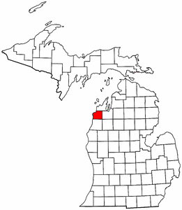 Image:Map of Michigan highlighting Benzie County.png