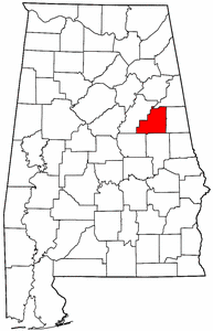 Image:Map of Alabama highlighting Clay County.png