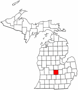 Image:Map of Michigan highlighting Clinton County.png
