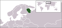Map of the region with the Republic of Karelia highlighted