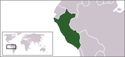 Location of Peru
