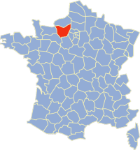 Location of  Eure in France