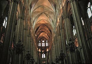 Sexpartite vaulting of the late 12th century  at Bourges