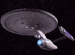 The Enterprise as depicted in films 1-6.