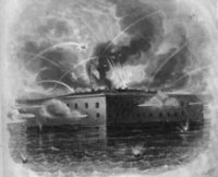 Fort Sumter under fire